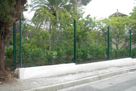 Installation de clôture rigide à Antibes