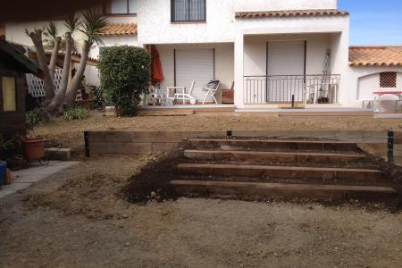 Aménagement et terrassement d'un jardin à Vallauris
