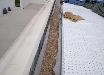 Pose sopradrain sur le toit à végétaliser