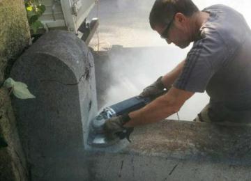 Modification de muret clôture et suppression de piliers redents - Clean Jardin à Antibes