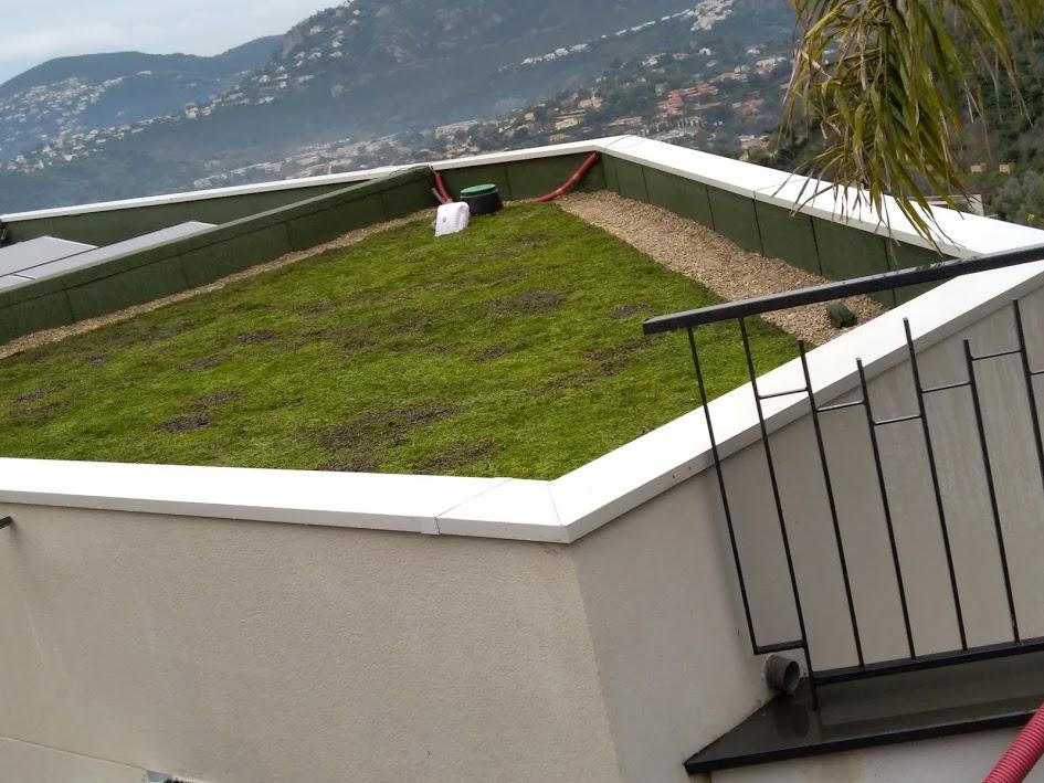 Toiture végétalisée Mougins 06 - Clean Jardin - Alpes Maritimes